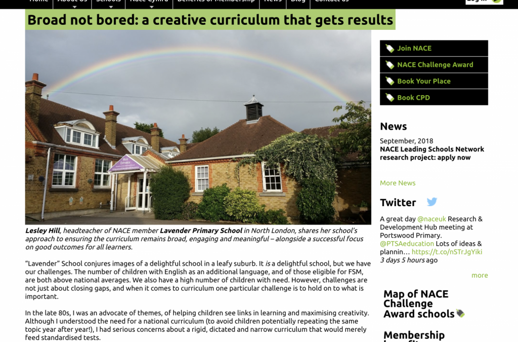 Broad not bored: a creative curriculum that gets results