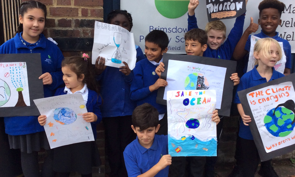 Enfield schoolchildren lead the way in global climate protests
